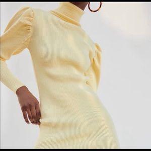 Zara puff sleeve turtleneck dress/top